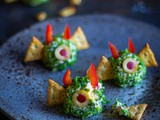 Duivelse roomkaas monstertjes Halloween recept