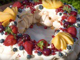 New Years Pavlova Wreath