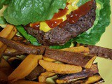 Sweet Potato Fries & Spicy Burger