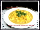 Paneer Corn Korma | Vegetarian Recipe