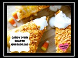 Candy Corn Shaped Quesadillas