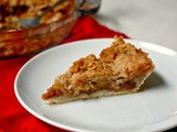 Apple streusel pie and a giveaway