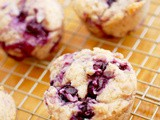 Blueberry coconut oil Greek yogurt muffins