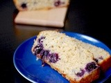 Blueberry lemon Greek yogurt loaf bread