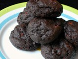 Chocolate and cacao nib cookies
