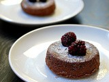 Chocolate molten lava cakes for 2