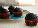 Chocolate sour cream cupcakes