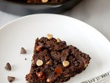 Double chocolate skillet cookie