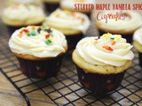 Guest Post: Stuffed maple vanilla spice cupcakes from Feed Me, Seymour