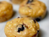 Lemon blueberry Greek yogurt muffins