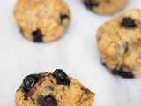 Lower sugar blueberry muffins