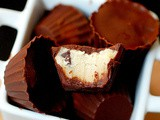 Mini (eggless) chocolate cookie dough cups