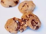 Nutella stuffed brown butter sea salt chocolate chip cookies