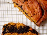One bowl pumpkin chocolate marbled bread