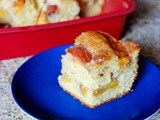 Peach Greek yogurt coffee cake