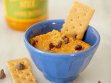 Pumpkin spice chocolate chip hummus dip