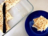 Rice krispies treats with homemade marshmallows