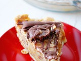 Salted caramel and chocolate peanut butter pie