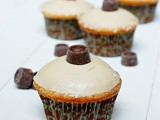 Salted triple caramel cupcakes