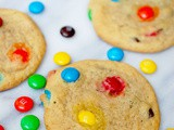 Soft and chewy m&m chocolate chip cookies
