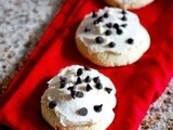 Soft sugar cookies with cookie dough frosting