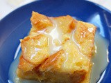 White chocolate bread pudding