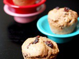 Whole wheat cinnamon raisin muffins