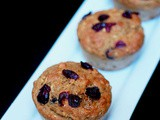 Whole wheat cranberry buttermilk muffins