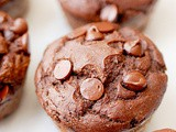 Whole wheat double chocolate muffins