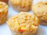 Whole wheat Greek yogurt peach muffins