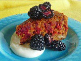 Honey Orange Glazed Beet and Ginger Cake with Greek Honey Yogurt and Fresh Blackberries