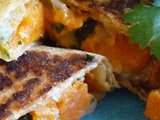 Roasted Sweet Potato Poblano Quesadillas