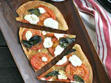 Fresh Tomato Pizza with Crushed Fennel and Goat Cheese
