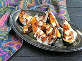 Paprika Roasted Acorn Squash with Garlic Tahini Drizzle