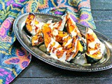 Roasted Acorn Squash with Garlic Tahini Drizzle