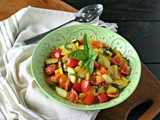 Summer Squash and Tomatoes with Basil