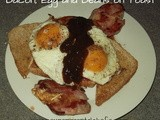 Bacon, Egg and Beans on Toast