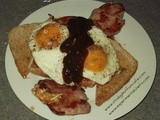 Bacon, Egg, Baked Beans on Toast