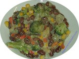 Beany Vegetables in Cheese Sauce