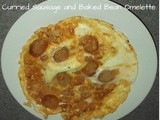 Curried Sausage and Baked Bean Omelette