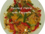 Meatball Penne with Peppers