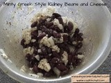 Minty Greek style Kidney Bean and Cheese Salad