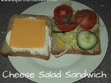 Mustardy Cheese Salad Sandwich