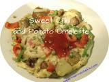 Sweet Chilli and Potato Omelette