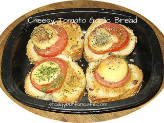 Tomato and Smoked Cheese Garlic Bread
