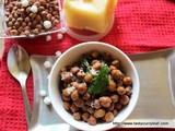 Curried Brown Chickpeas - Chana Upkari | Happy Ugadi