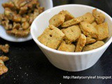 Nutty Cheese Crackers | Easy n Tasty