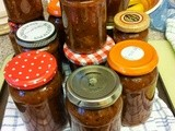 Spicy Red Tomato, Pepper and Squash Chutney
