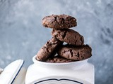 Chocolate Peanut Butter cookies {Whole Wheat}