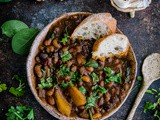 Hearty Ten Bean Soup with Spinach and Potatoes